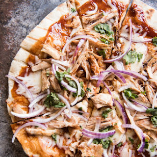 Grilled BBQ Chicken Pizza.