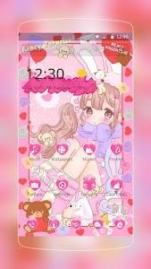 Pink Cute Girl Love screenshot 0