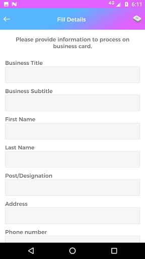 Pembuat kartu nama - kunjungan 3.7 screenshots 7