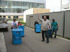 Photo: Moving bins to assembly