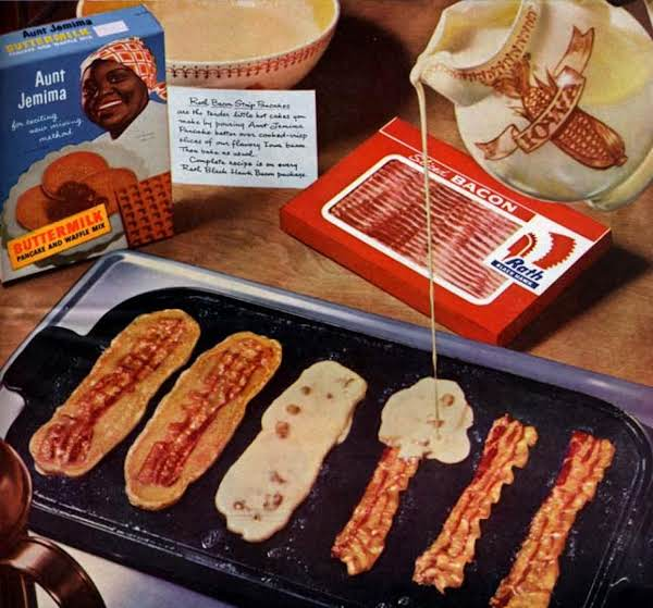 Aunt jemima bacon pancakes recipe just a pinch recipes aunt jemima bacon pancakes ccuart Images