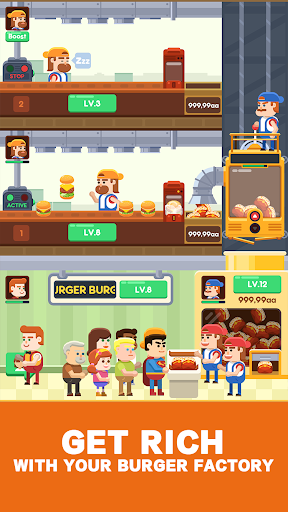 Idle Burger Factory - Tycoon Empire Game 1.0.8 screenshots 2