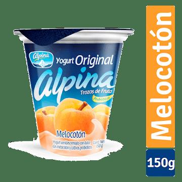 Yogurt ALPINA Original   Trozos de Fruta Melocotón x150g