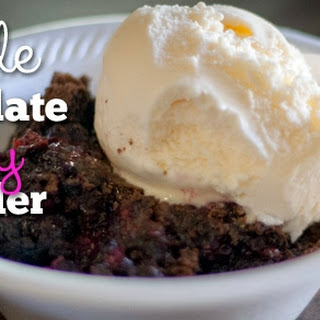 Chocolate Berry Cobbler