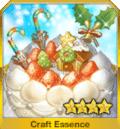 聖夜のホワイトケーキ