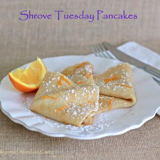 Shrove Tuesday Pancakes.