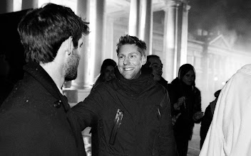 Photo: Burberry Chief Creative Officer Christopher Bailey behind the scenes at the A/W12 campaign with Roo Panes