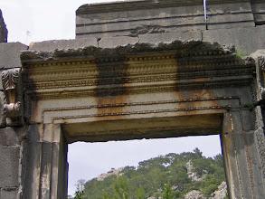 Photo: Entrance to the Temple of Marcus Aurelius Archepolis built 161-180 AD ********** Detail van de ingang van de Tempel gewijd aan Marcus Aurelius Archepolis uit 161-180 n.C.