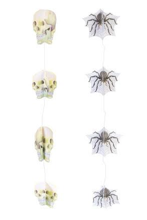 Girlang Hängande spindlar och dödskallar