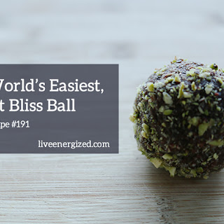 Raw Cacao, Pistachio & Almond Bliss Balls.