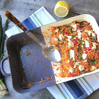 Mediterranean Shrimp & Orzo Casserole