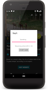 SayIt 💬 Text, articles or books to speech Screenshot