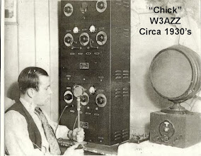 Photo: W3AZZ operating his station in 1931
