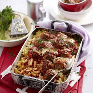 Macaroni with Meatballs.