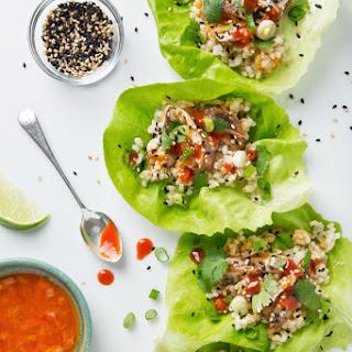Vegan Korean Lettuce Wraps.