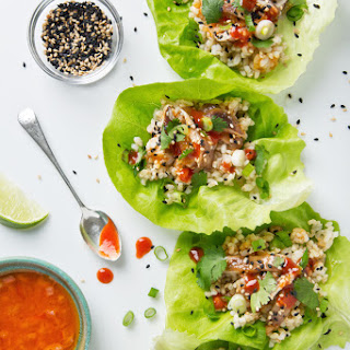 Vegan Korean Lettuce Wraps.