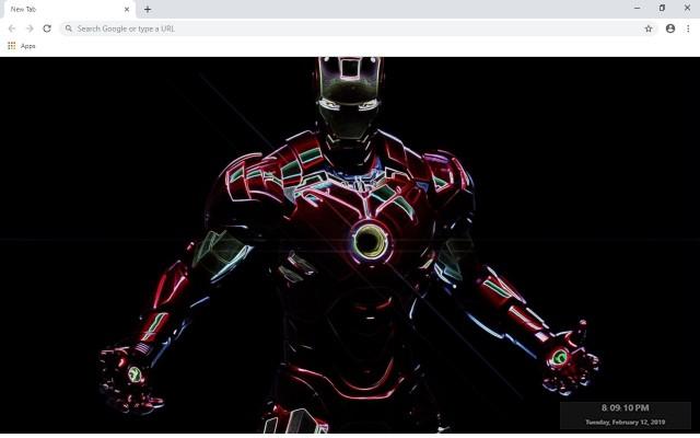 Iron Man HD New Tab Theme