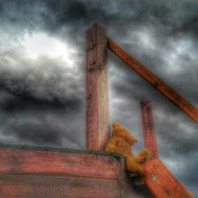 Lonely toy by Nat Bolfan-Stosic - Landscapes Cloud Formations ( clouds, sky, toy, storm, lonely )
