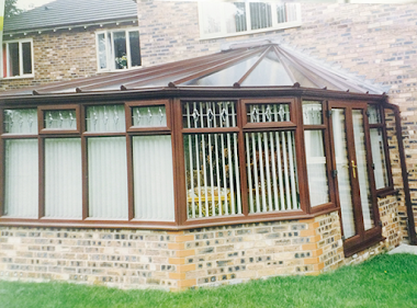Gullwing Conservatory with Glass Patio Door