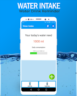Water Intake Reminder - Drink Water Tracker Screenshot