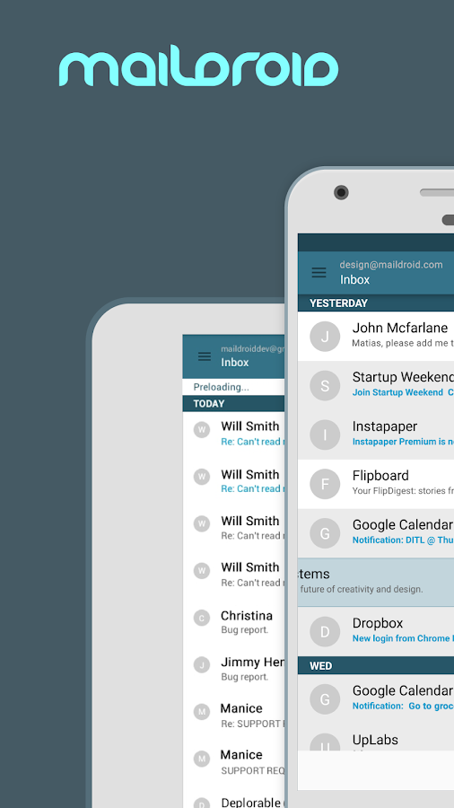 MailDroid - Free Email App- screenshot