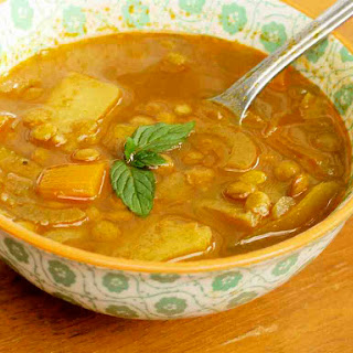 Curried Lentil Soup With Aromatic Oil