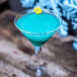 The Frozen Mint Blue Cocktail.
