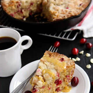 Cranberry Orange Skillet Cake with White Chocolate Recipe