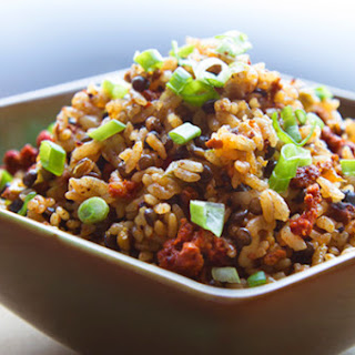 Chorizo Rice with Lentils