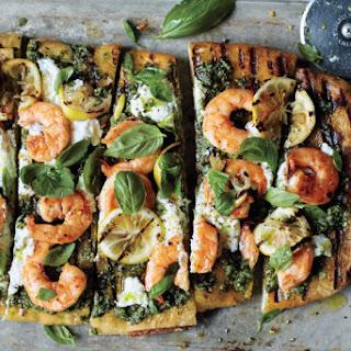 Shrimp and Pesto Pizza.