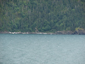 Photo: My beach campsite as seen from the ferry.