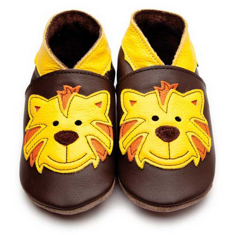Inch Blue Soft Sole Leather Shoes - Tommy Tiger Chocolate Yellow (2-3 years)