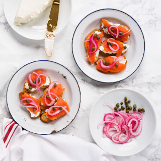 Lox & Bagel Cream Cheese Crostini