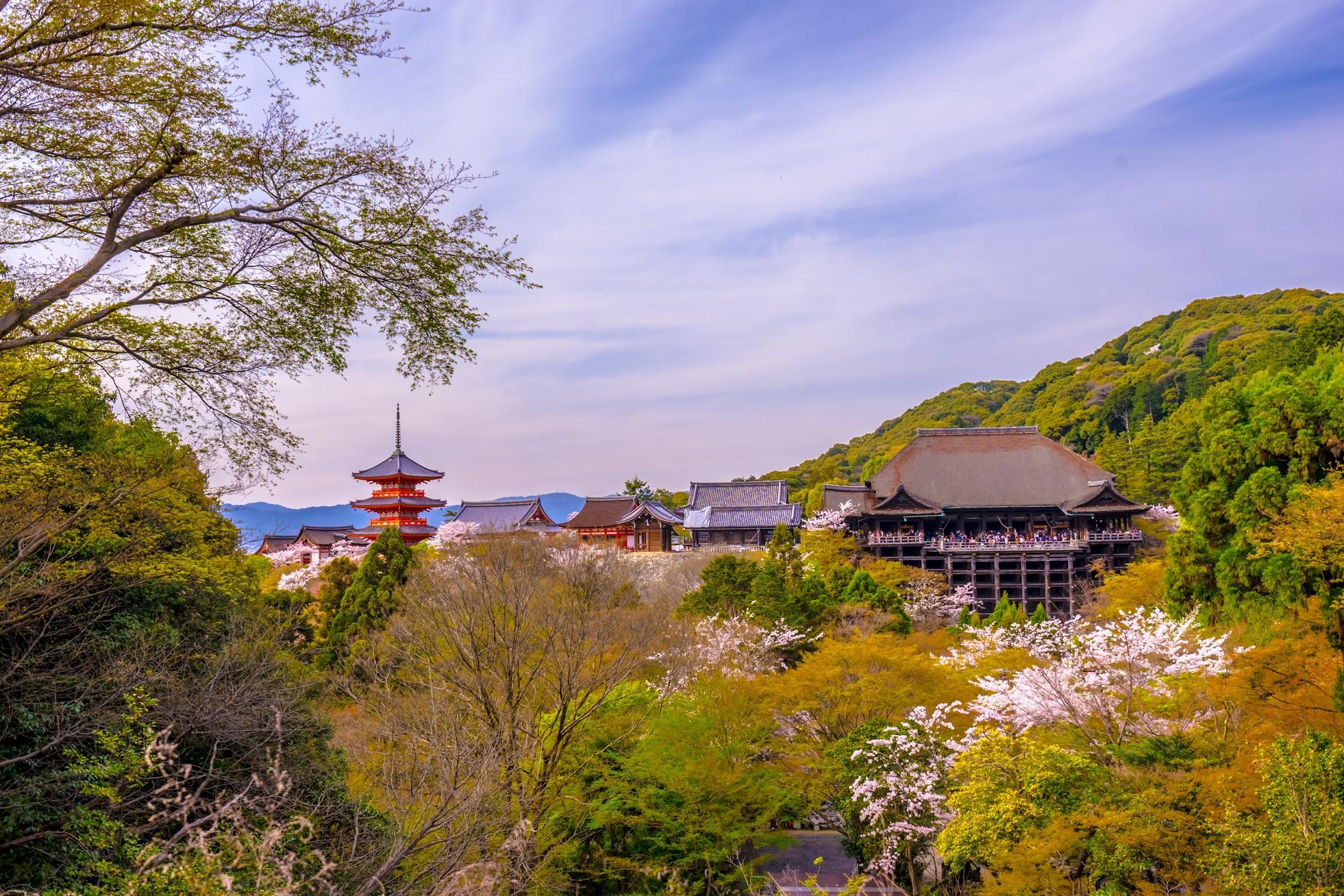 京都 清水寺 本堂 舞台 三重塔2