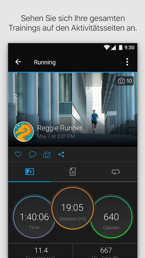 Garmin Connect™ – Screenshot