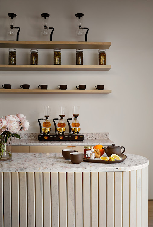 Standard Dose offers customers a tea bar.