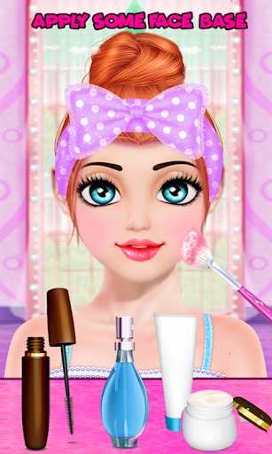 Cute Girl Makeup Salon Game: Face Makeover Spa apkmr screenshots 10