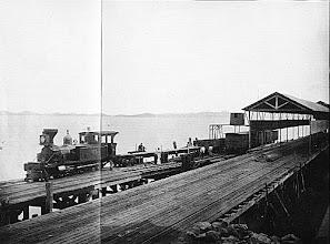 Photo: Estação de Guia de Pacobaíba, em Magé. Foto de 1895