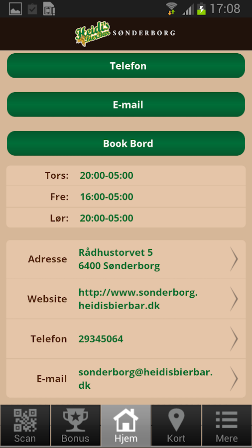 Heidi's Bier Bar Sønderborg- screenshot