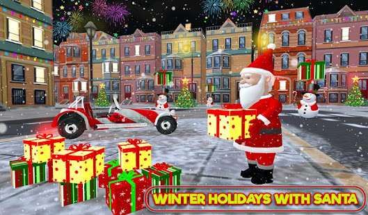 Santa Claus Stunt Car Christmas Gift Delivery for PC-Windows 7,8,10 and Mac apk screenshot 1