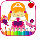Coloring princesa icon