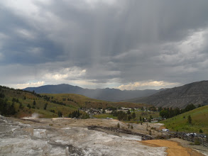 Photo: rain bands over Mammoth visitor center, etc.