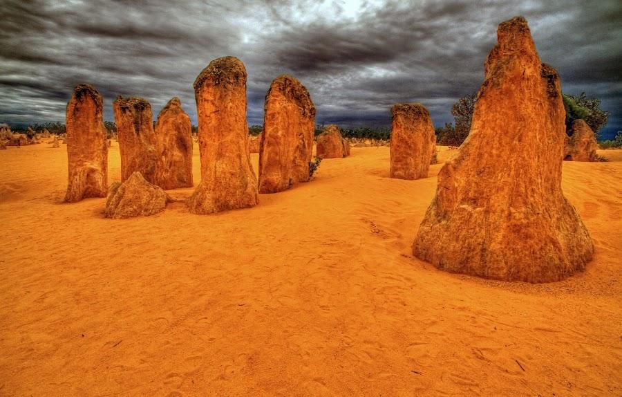 Desert Pinnacles by Steve Hatton - Landscapes Deserts