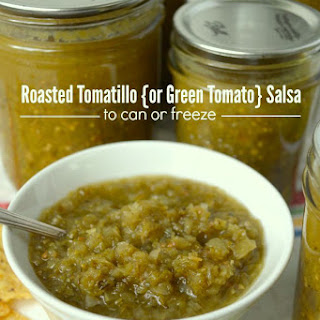 Roasted Tomatillo or Green Tomato Salsa.