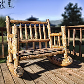 by Judy Heitzman - Artistic Objects Furniture ( double rocking chair )