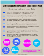 Photo: Checklist for decreasing the bounce rate