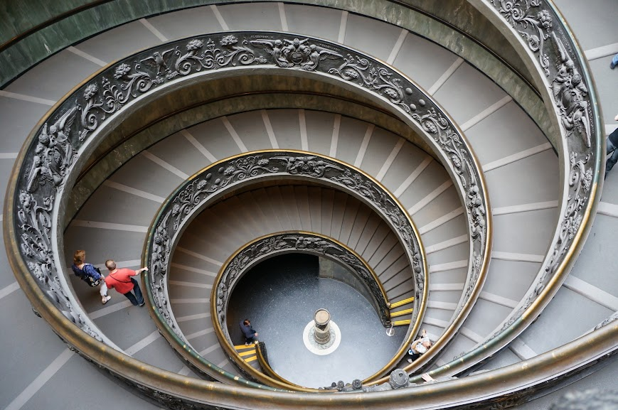 Spiral staircase of the Vatican, Rome, Italy (2015)