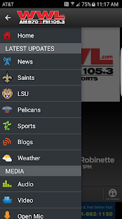 WWL - AM870/FM 105.3- screenshot thumbnail