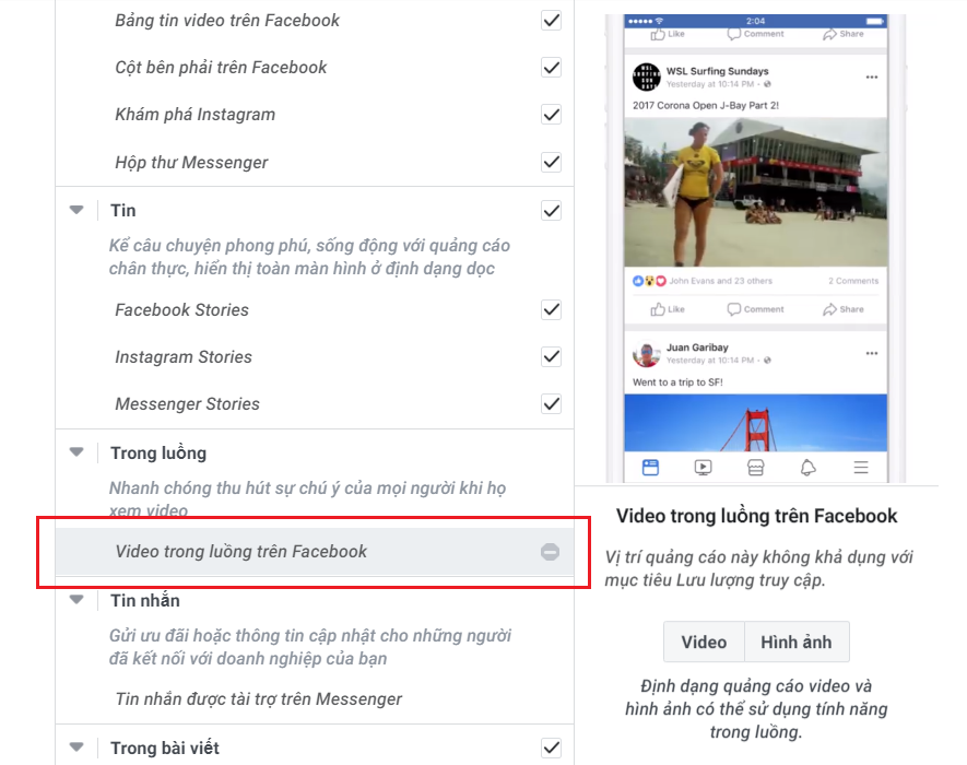 Video trong luồng trên Facebook (Facebook In-stream Videos)