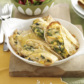 Chicken and Corn Crepes with Cheese Sauce